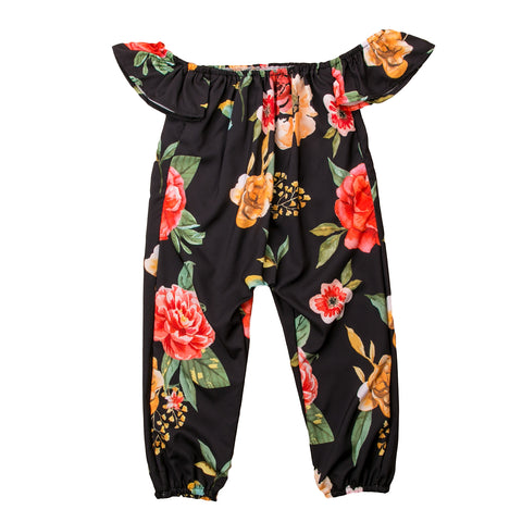 Dahlia Off Shoulder Floral Jumpsuit