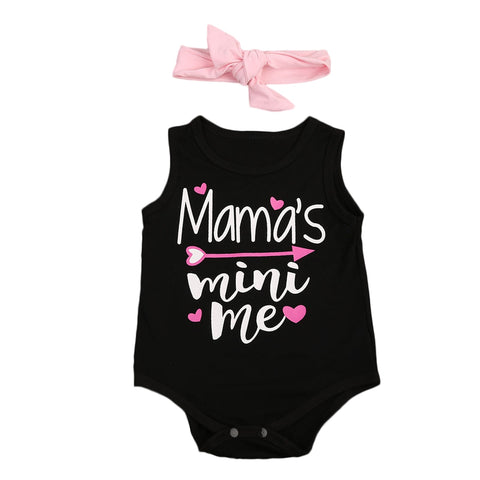 Mama's Mini Me Sleeveless Bodysuit + Headband