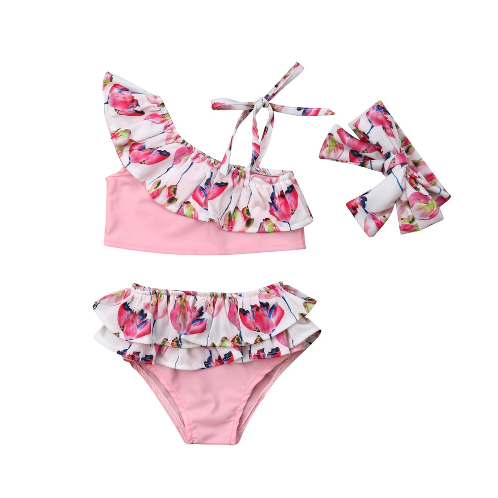 Floral Bathing Suit 3pcs Set