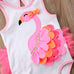 Flamingo Ruffled Bathing Suit