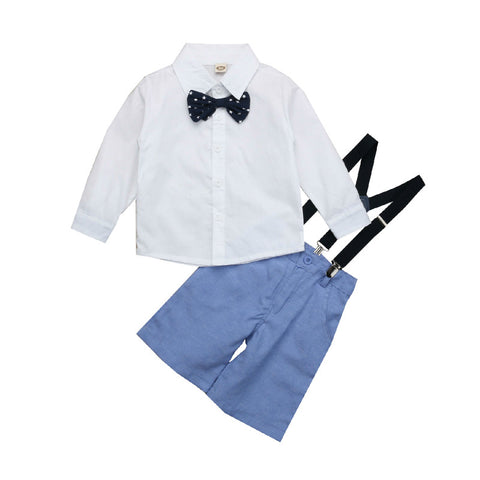 Long Sleeve Bow Top + Overall Pants