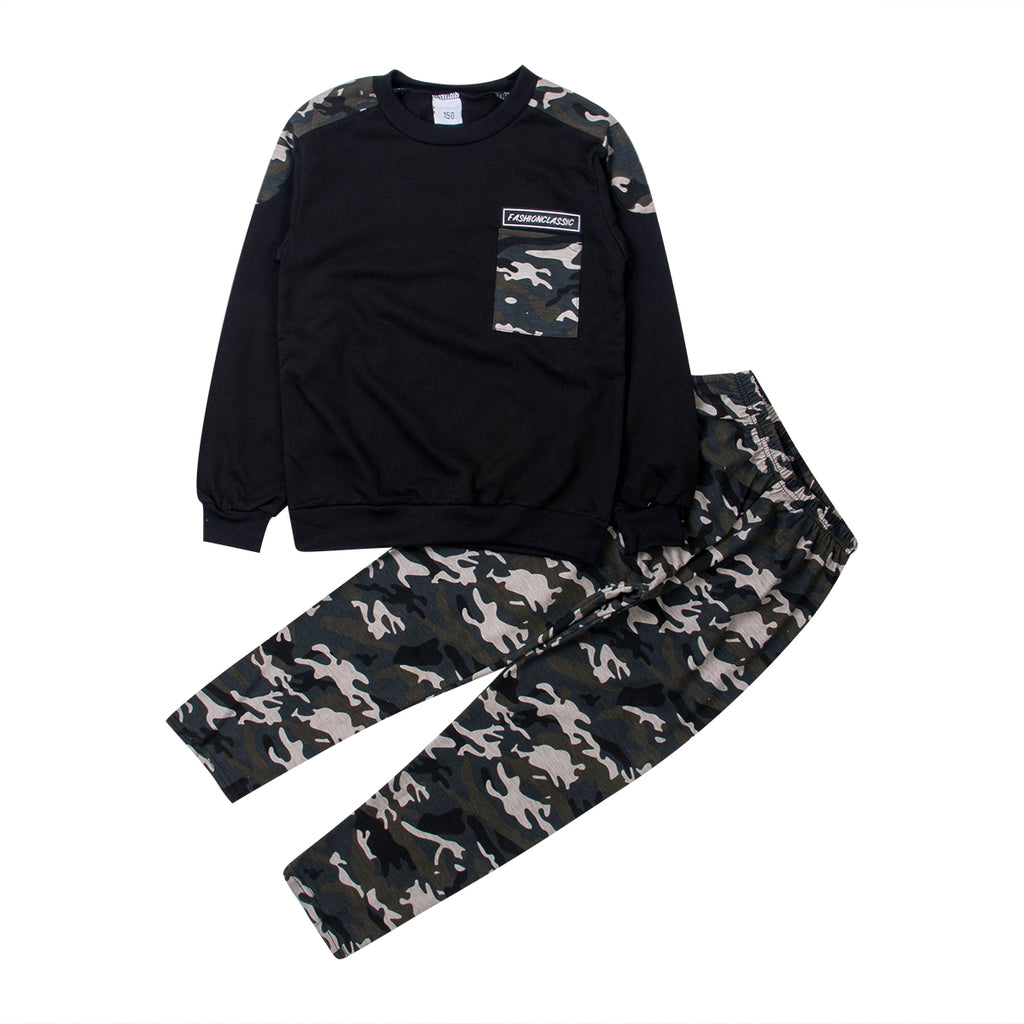 Long Sleeve Camo  + Joggers