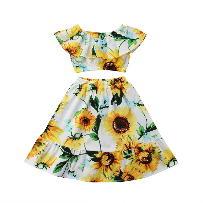 Sophia Sunflower Top & Dress