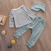 Mint Striped Clothing Set