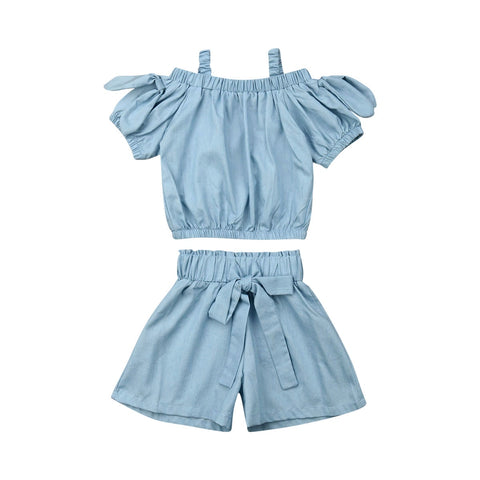 Karen Strap Top + Bow Shorts