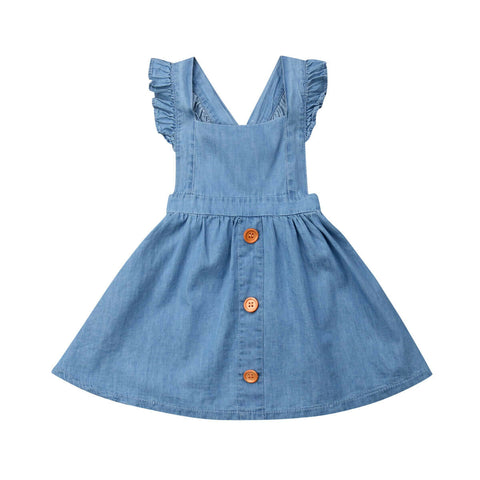 Denim Overall Button Dress