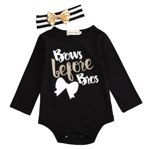 Bows Before Bros Bodysuit + Headband