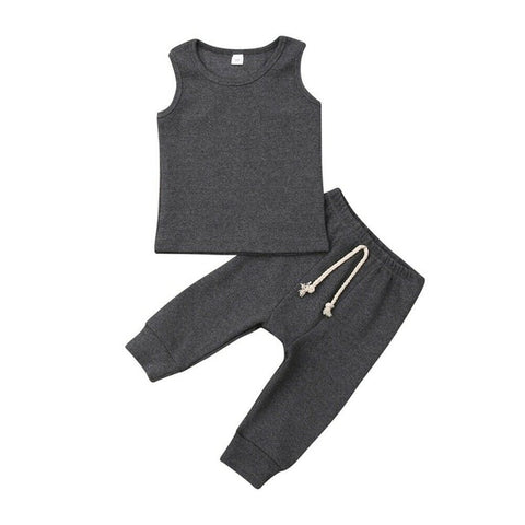 Casual Vest Clothing Set