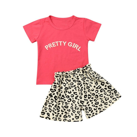Pretty Girl Top + Leopard Shorts