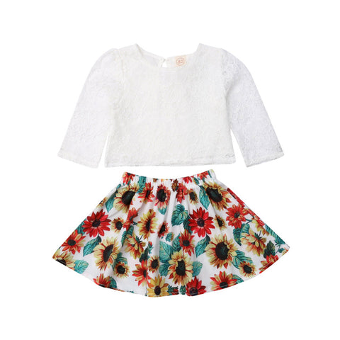 Quincy Lace Top + Sunflower Skirt