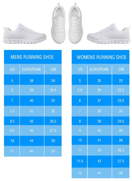 Running Shoes Sizing Chart