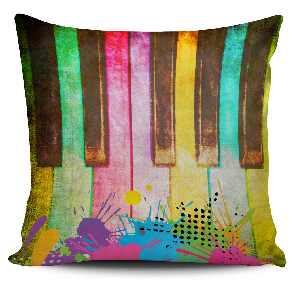 Piano Grunge Pillow Cover
