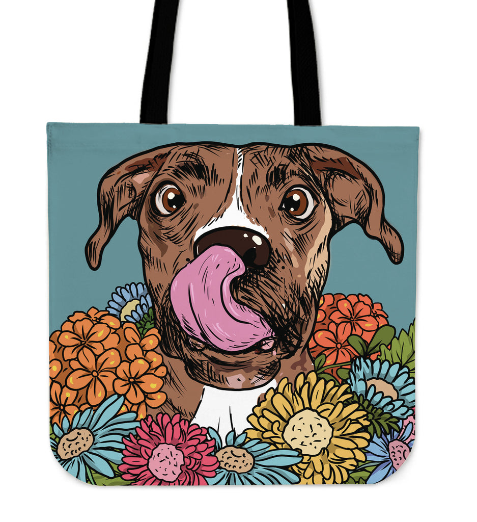 Illustrated Boxer Linen Tote Bag