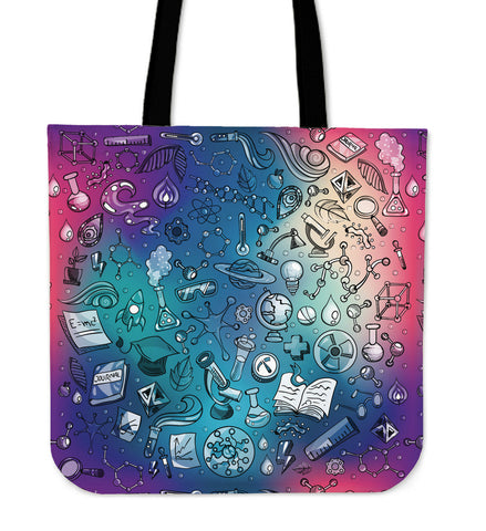 Rainbow Science Linen Tote Bag