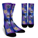 Cosmic Cat Socks