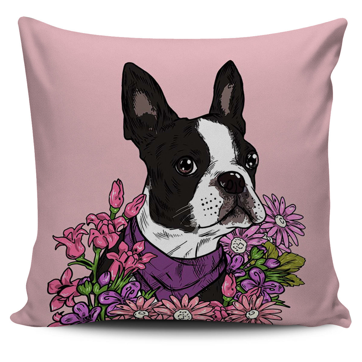 Illustrated Boston Terrier Pillow Cover – Groove Bags