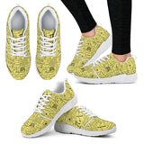 Math Pattern Athletic Sneakers