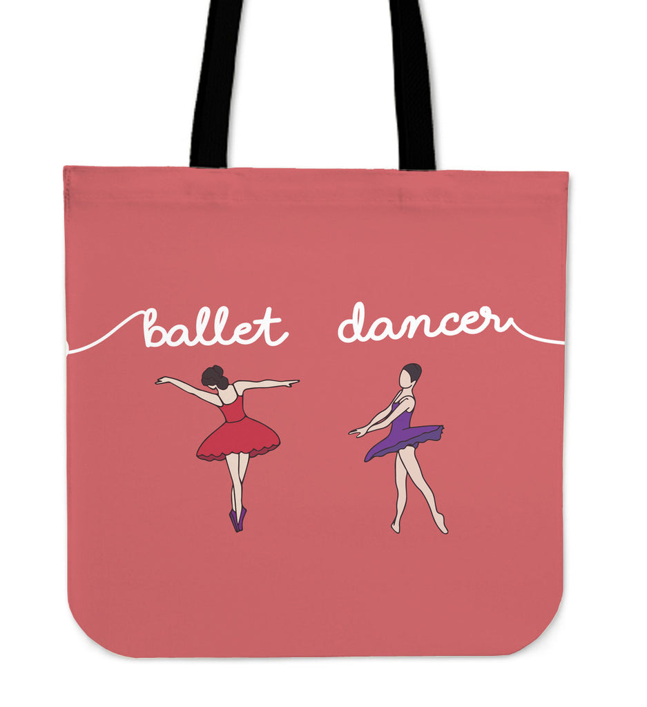 Ballet Dancer Linen Tote Bag