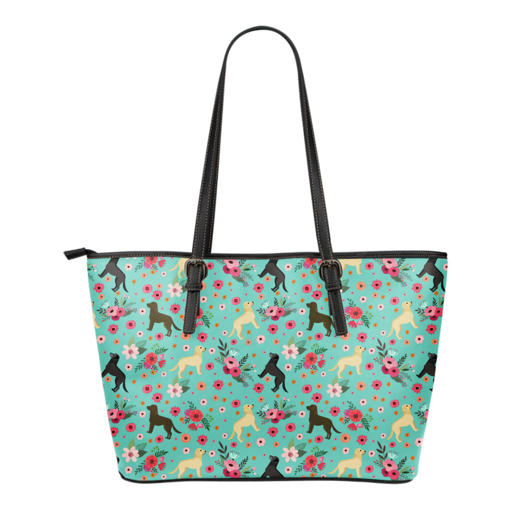 Labrador Retriever Flower Tote Bag
