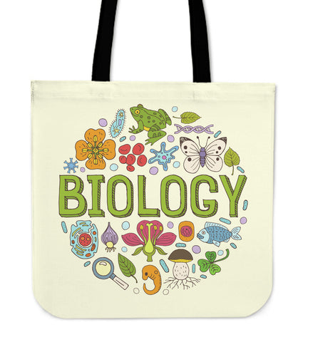 Biology Lovers Linen Tote Bag