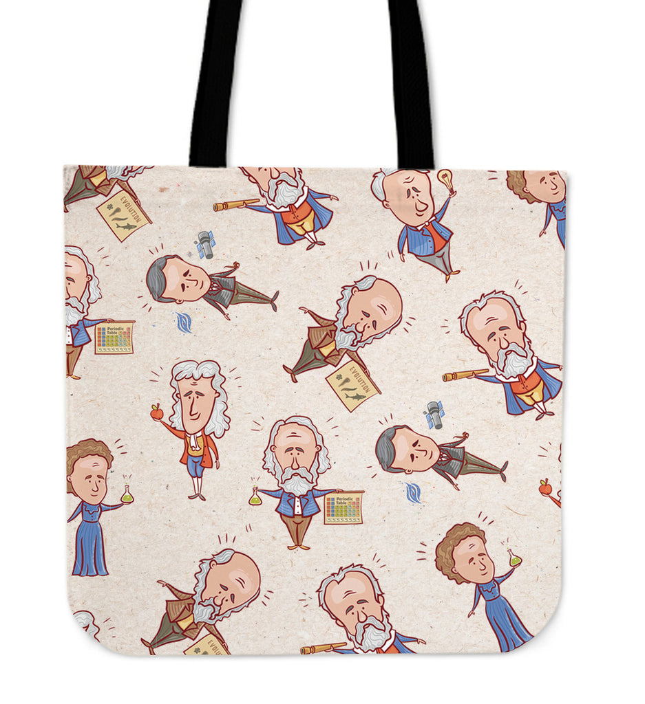 Famous Scientists Linen Tote Bag