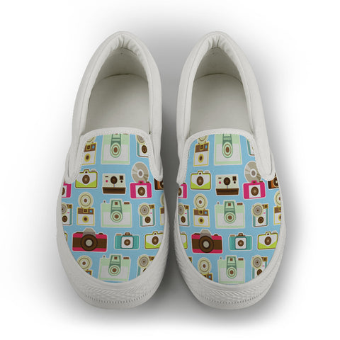 Vintage Camera Slip Ons-Clearance