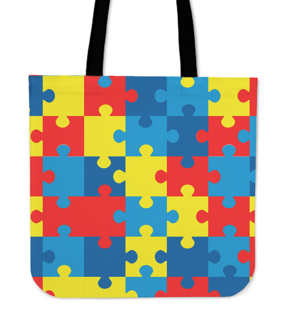 Autism Awareness Linen Tote Bag