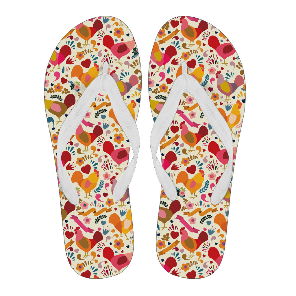 Adorable Chicken Flip Flops