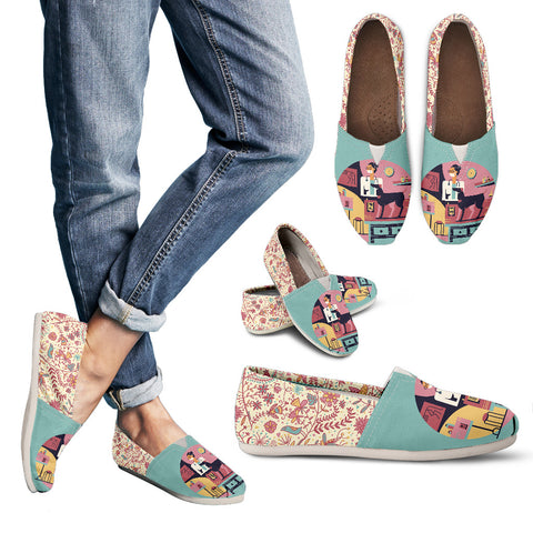 Floral Veterinary Care Casual Shoes