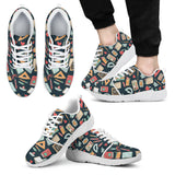 Teacher Pattern Athletic Sneakers