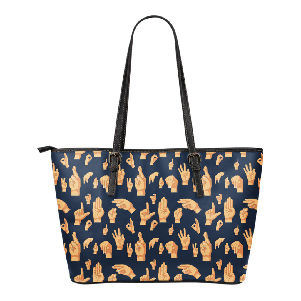 ASL Hand Sign Tote Bag