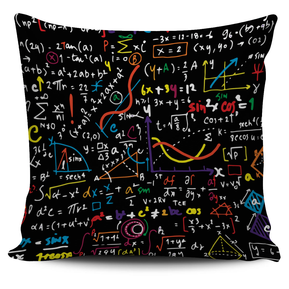 Colorful Math Formula Pillow Cover- PROMO – Groove Bags