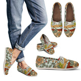 Floral Mountain Range Casual Shoes-Clearance