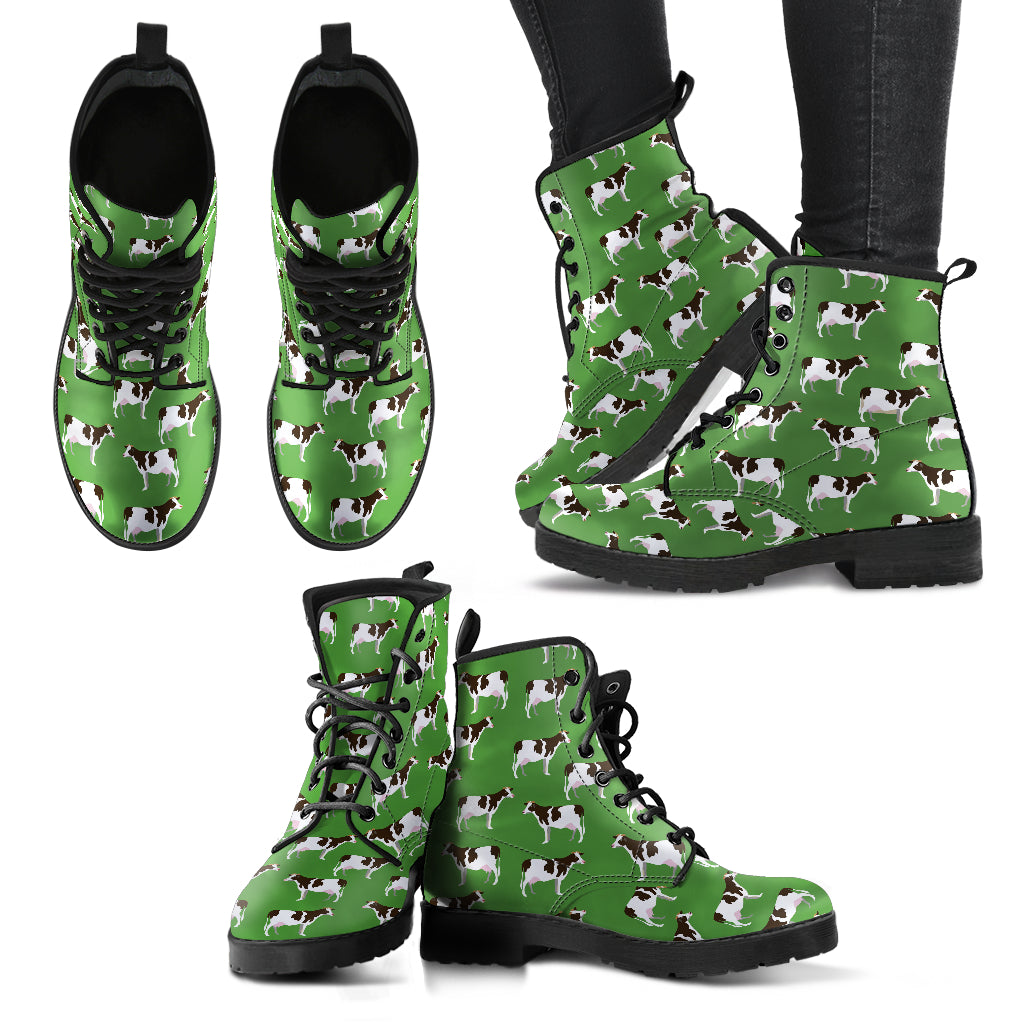 Cow Pattern Boots