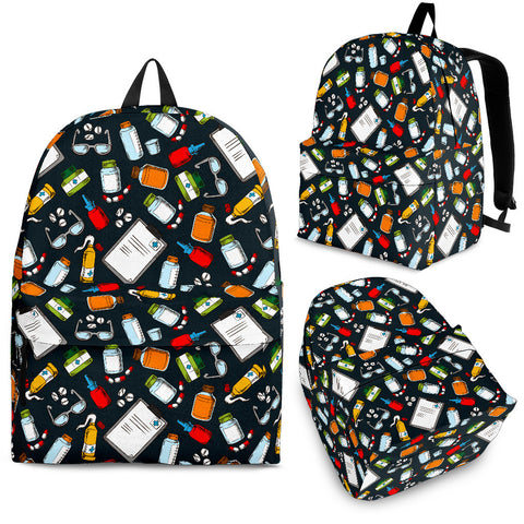 Pharmacist Pattern Backpack