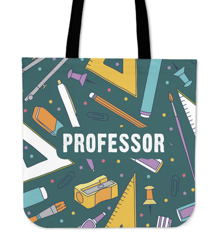Professor Stationery Linen Tote Bag