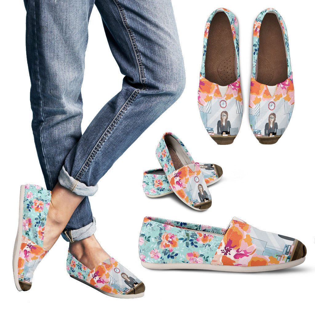 Floral Bank Teller Casual Shoes
