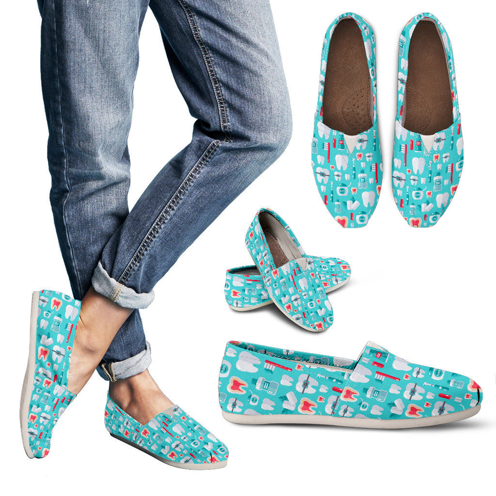 Dentist Pattern Casual Shoes-Clearance