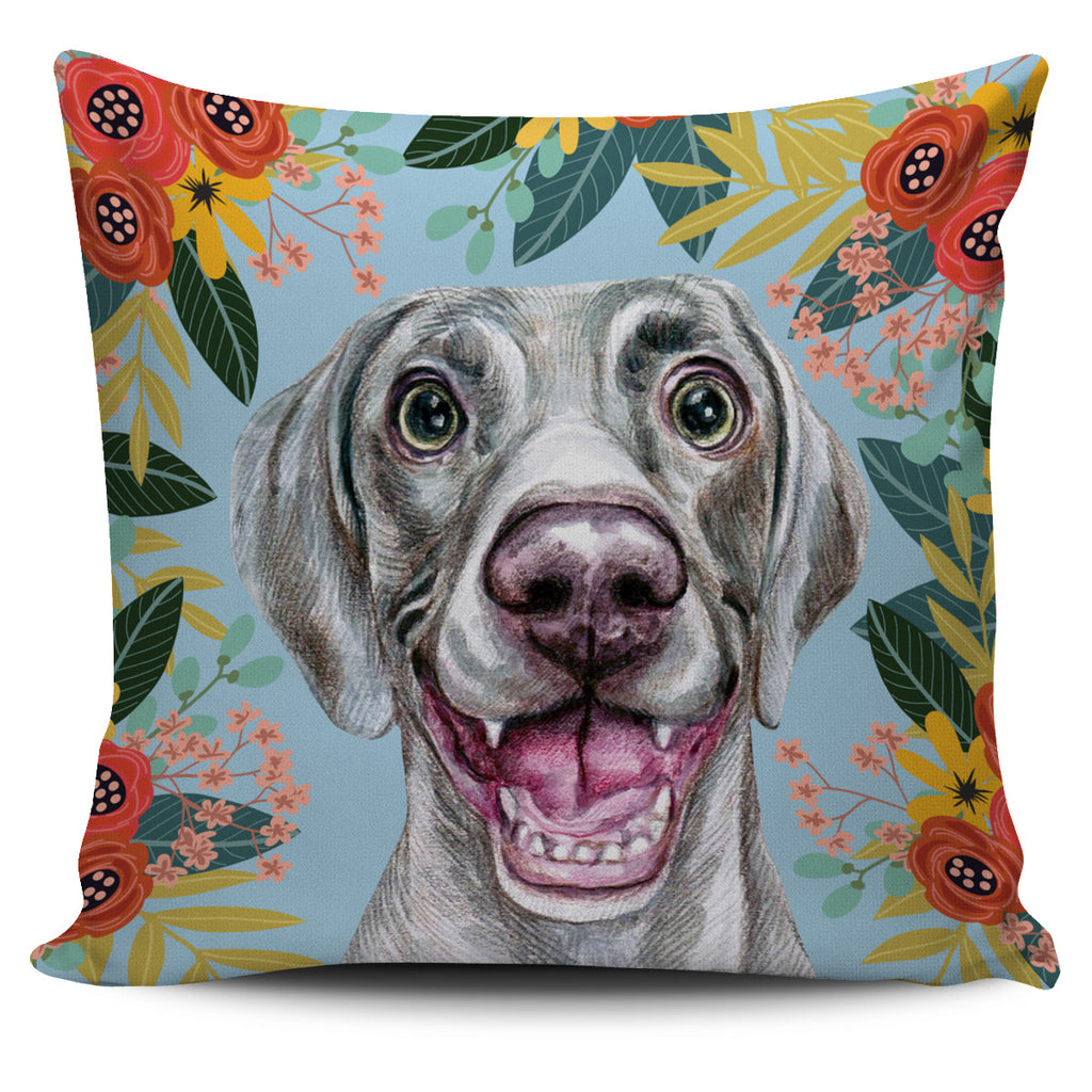 Joyful Weimaraner Pillow Cover