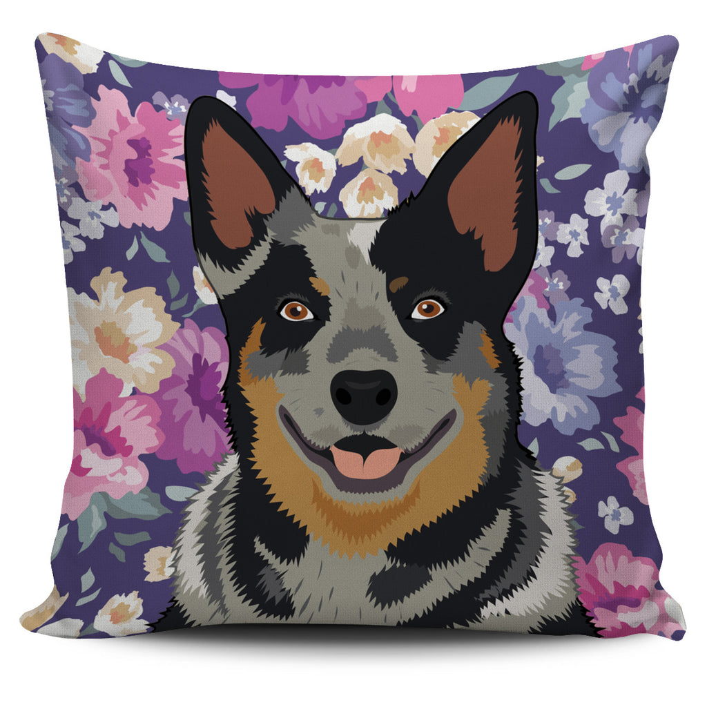 Australian Cattle Dog Portrait Pillow Cover