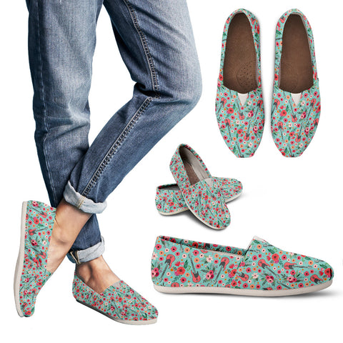 Electric Guitar Flower Casual Shoes