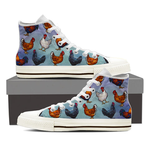 Farm Chicken Print Shoes