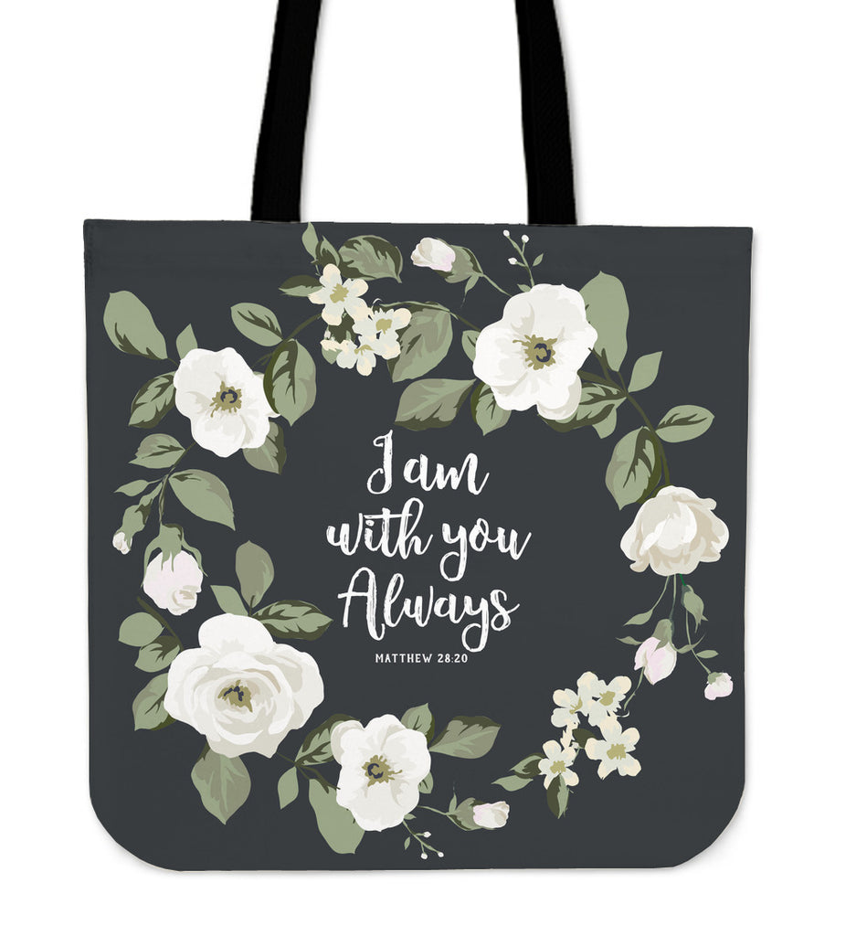 """With You"" Linen Tote Bag"