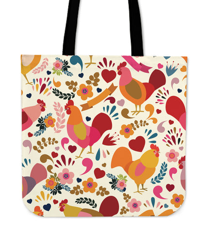 Adorable Chicken Linen Tote Bag