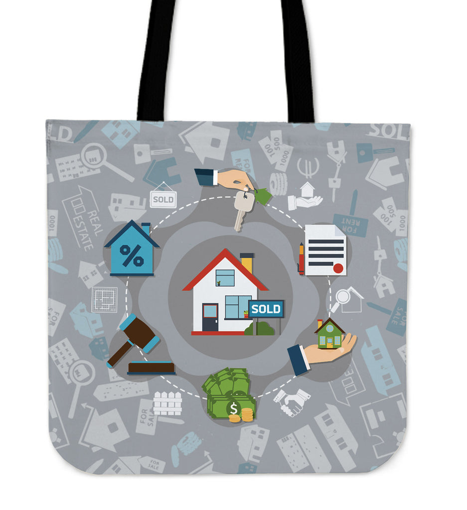 Real Estate Sold Linen Tote Bag