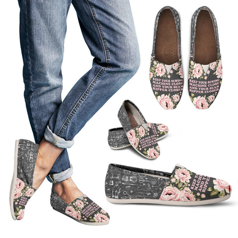 Floral Sewing Casual Shoes-Clearance