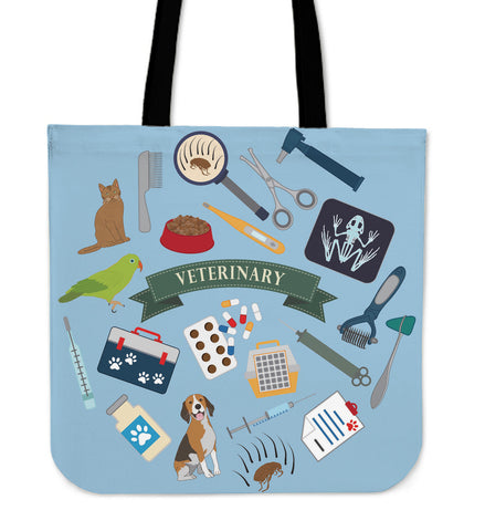 Veterinary Essential Linen Tote Bag