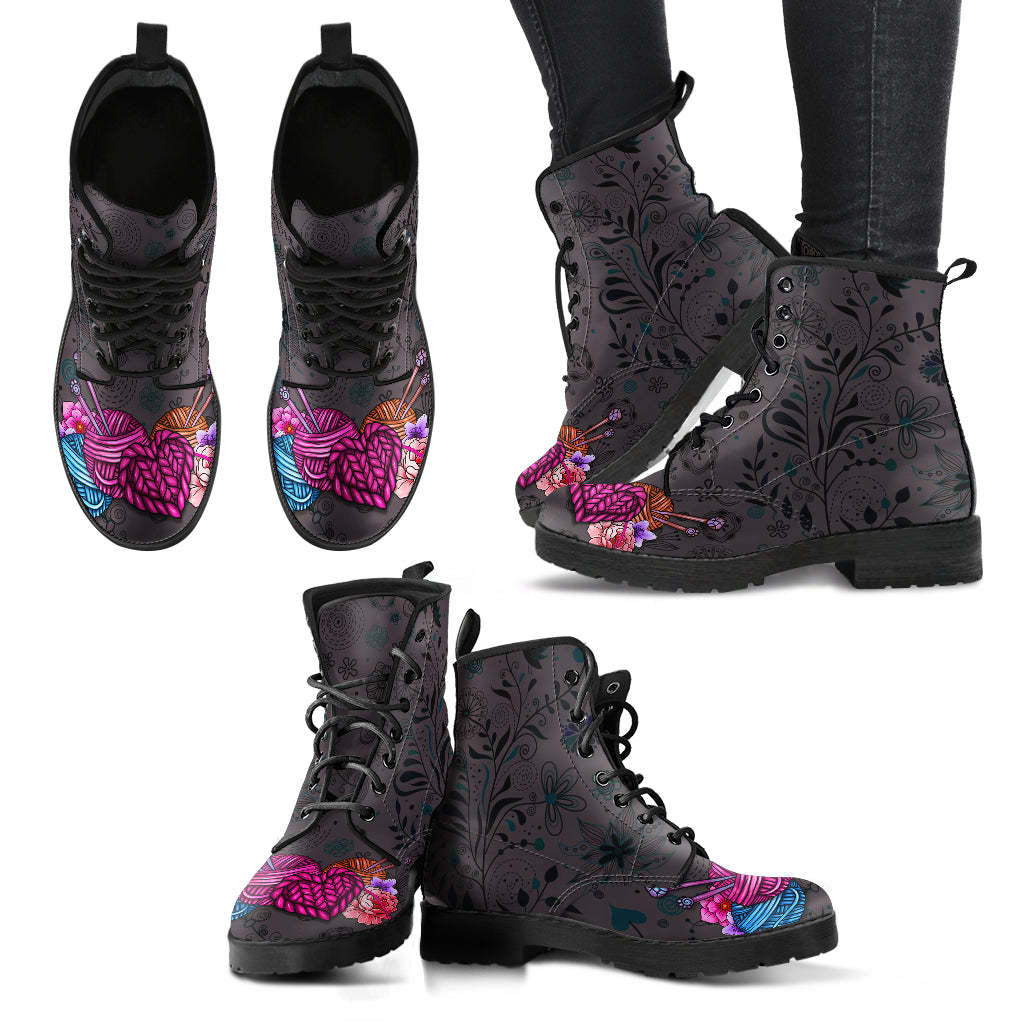 Floral Knitting Boots-Clearance