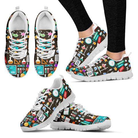 Science Pattern Sneakers-Clearance