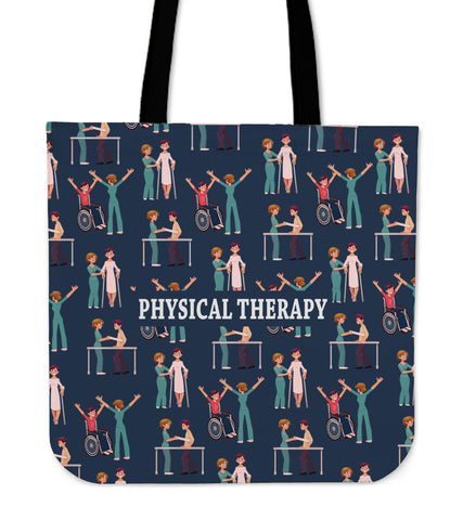 Physical Therapy Linen Tote Bag